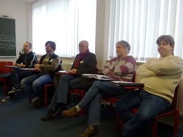 Fünf Teilnehmer des Seminars