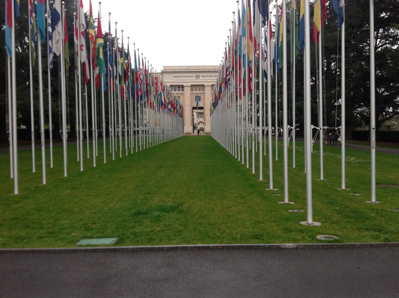 Der Hauptsitz der Vereinten Nationen in Genf