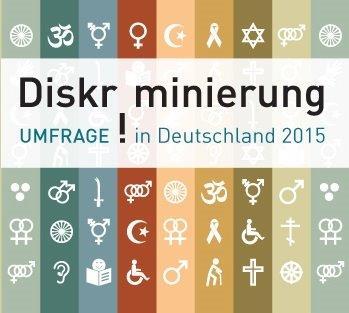 Banner zur Umfrage Diskriminierung in Deutschland 2015