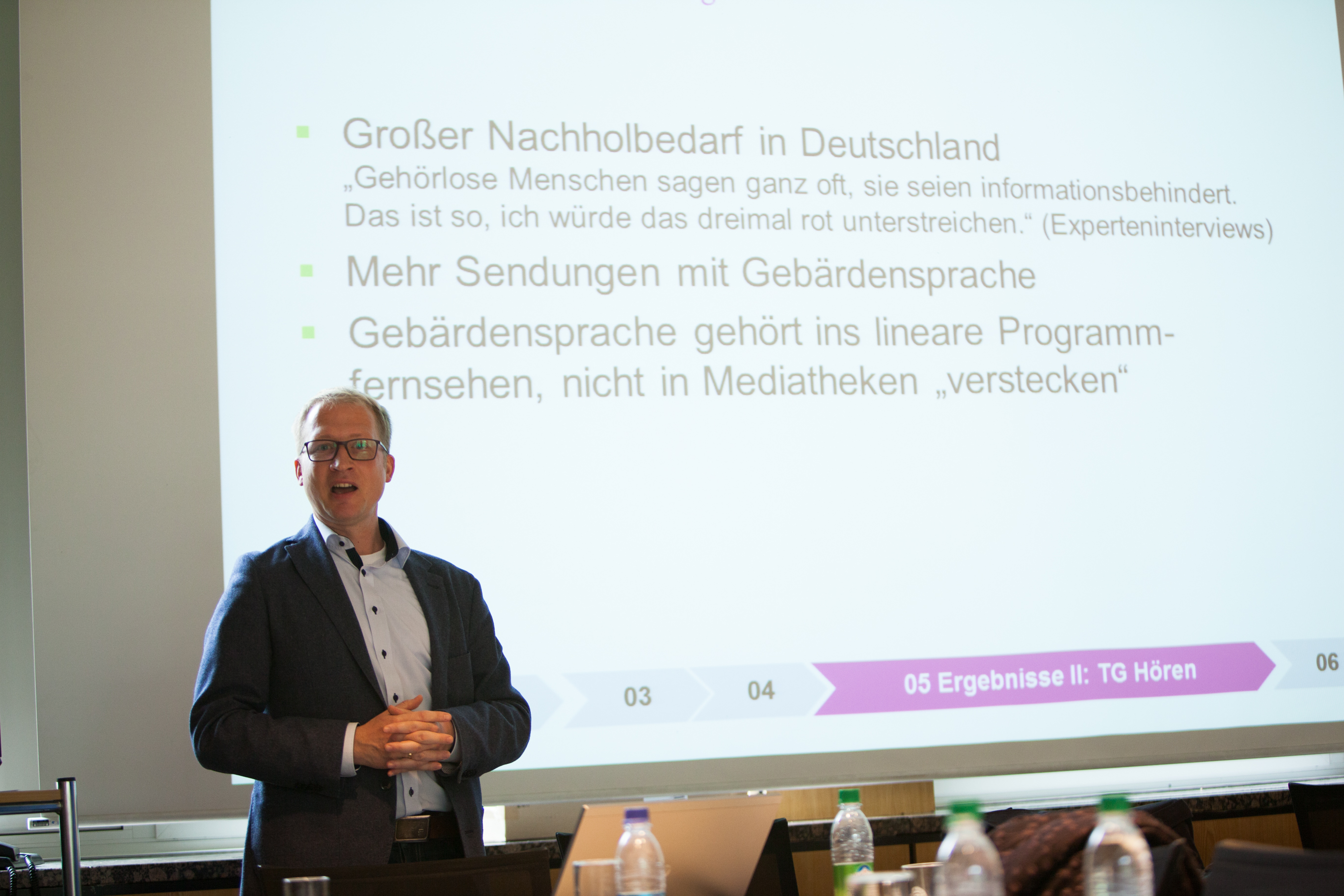 Prof. Dr. Ingo Bosse bei seinem Vortrag