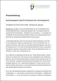 Pressemitteilung der Deutschen Gesellschaft
