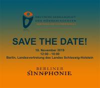 Save the Date: Ankündigung der Berliner Sinnphonie  am 18. November 2019
